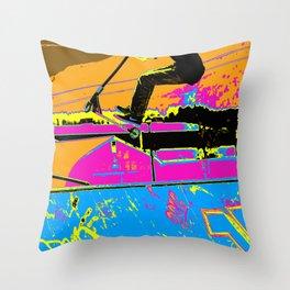 High-Flyin' Scooter Champ Throw Pillow