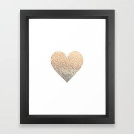 GOLD HEART Framed Art Print