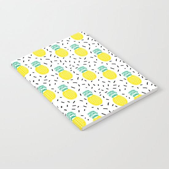 Pineapple fun modern minimal scandi design fresh fruit tropical island summer beach socal vegan Notebook