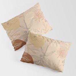 Orange Abstract Desert Pattern Pillow Sham
