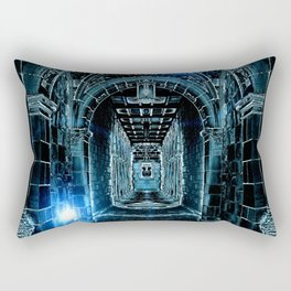 Abstract Gothic Architecture Rectangular Pillow