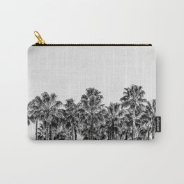 California Beach Vibes // Black and White Palm Trees Monotone Travel Photograph Carry-All Pouch