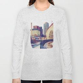 Stone Arch Bridge-Minneapolis, Minnesota Long Sleeve T-shirt