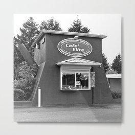 Coffee pot stand Metal Print