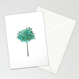 one young olive tree watercolor Stationery Cards