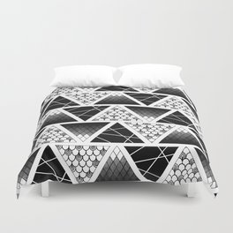 Zentangle Triangles Duvet Cover