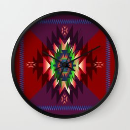 southwest dream in wine Wall Clock