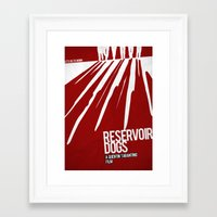 reservoir dogs Framed Art Prints featuring Reservoir Dogs by Andres Asencio