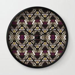 Abstract Geometric Modern Seamless Pattern Wall Clock