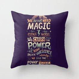 Imagine Better Throw Pillow