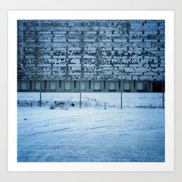 Warehouse Wall, Detroit. Art Print