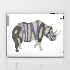 Rhinoceros Typography Laptop & iPad Skin