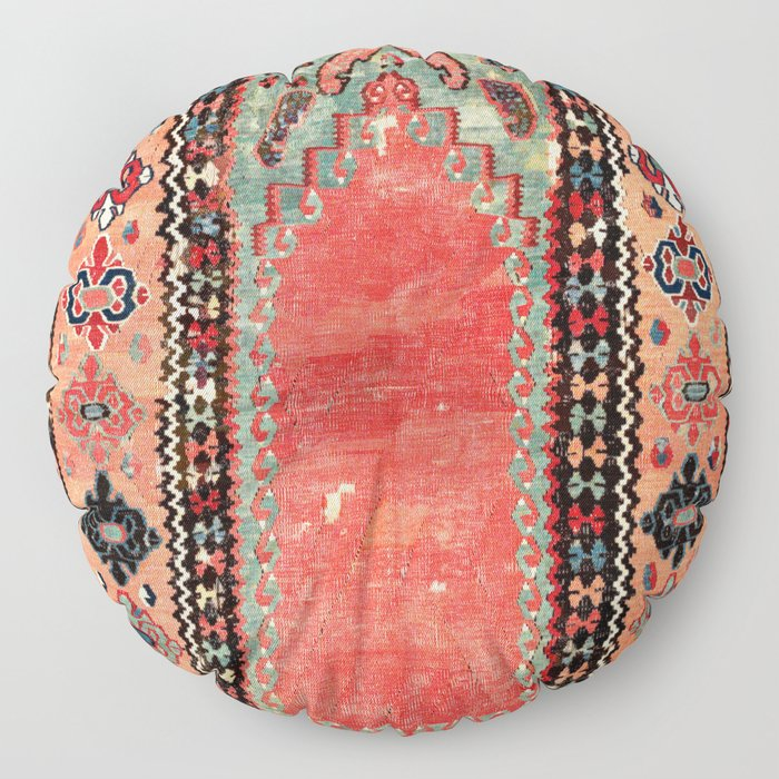 Sivas  Antique Cappadocian Turkish Niche Kilim Print Floor Pillow