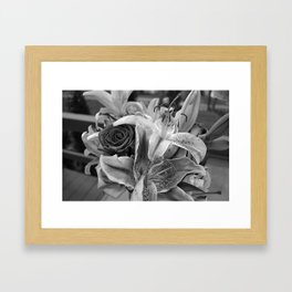 Just for you black and white Framed Art Print