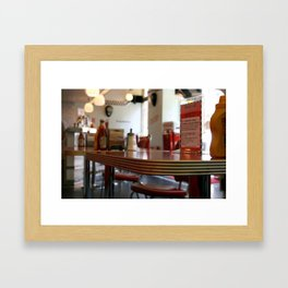 American Diner in London Framed Art Print