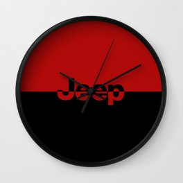 RED and Black Wall Clock