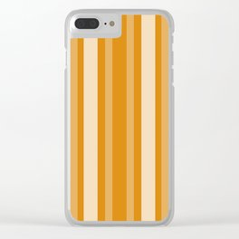 Marigold Victorian Lady Stripe Clear iPhone Case