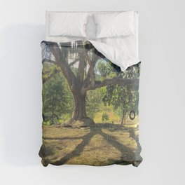 Tire Swing in a Tropical Place Comforters