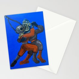 Two Divers, Dancing Stationery Cards