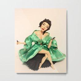 Geisha front Metal Print