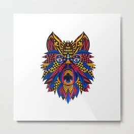 Lion colorié Metal Print