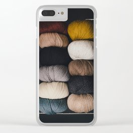 Warm Fuzzy Knits Clear iPhone Case