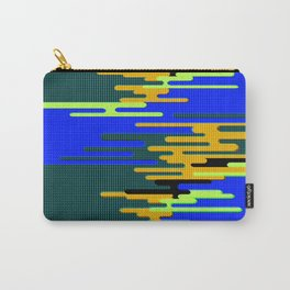 Blue Green Yellow 8Bit Clouds Carry-All Pouch