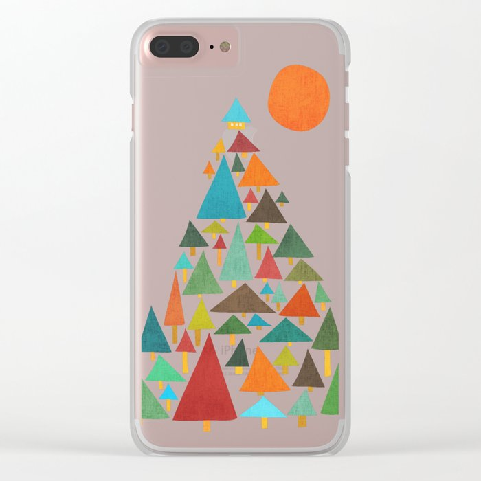 The house at the pine forest Clear iPhone Case