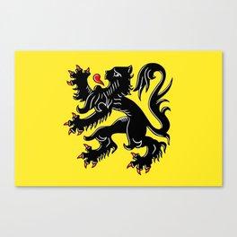 Flag of Flanders - Belgium,Belgian,vlaanderen,Vlaam,Oostende,Antwerpen,Gent,Beveren,Brussels,flamish Canvas Print
