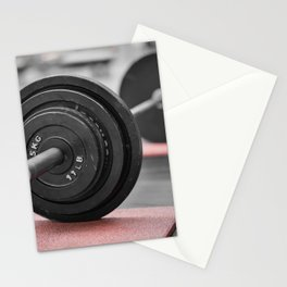Cast Iron Barbell Stationery Cards