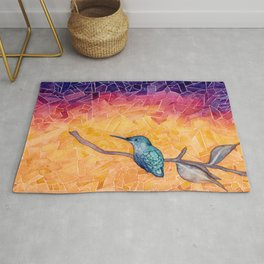 Hummingbird in the Desert Rug