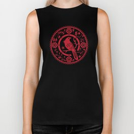 Traditional chinese paper cut Biker Tank
