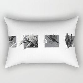 Social Raven Story Rectangular Pillow