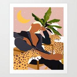 Girl Boss #illustration #painting Art Print