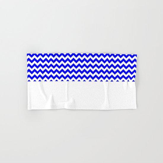 Chevron (Blue/White) Hand & Bath Towel