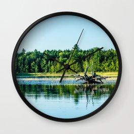 Driftwood Reflection Wall Clock