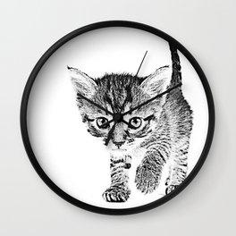 Kitten Sketch Wall Clock