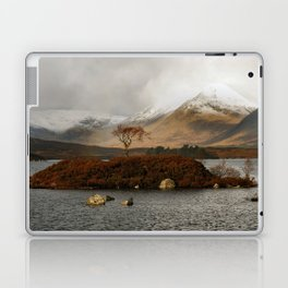 Lone Tree and Dusting of Snow in Mountains of Scotland Laptop & iPad Skin