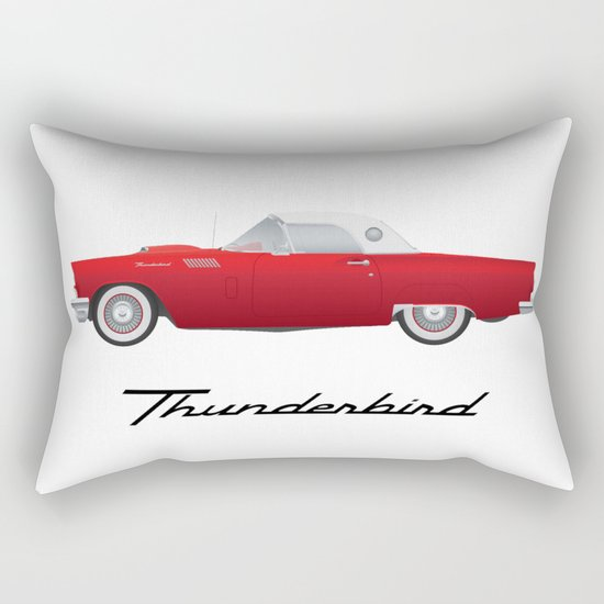 1957 Thunderbird Rectangular Pillow