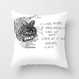 Drawing a day goes 100 Throw Pillow