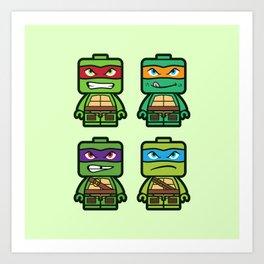 Chibi Ninja Turtles Art Print