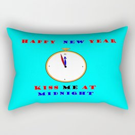 Happy New Year Kiss me at Midnight Rectangular Pillow