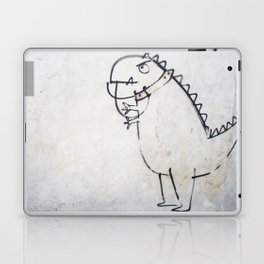 The dinosaur ate his owner Laptop & iPad Skin