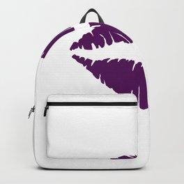 Violet Lips Kiss Backpack