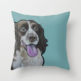 Bea the Springer Spaniel Throw Pillow