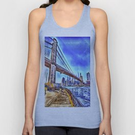 Brooklyn Bridge New York Art Unisex Tank Top