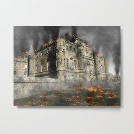 Castle ruin attack destruction Metal Print
