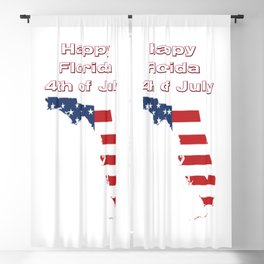 Happy Florida 4th of July Blackout Curtain