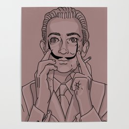 Smoking Salvador Dali Poster