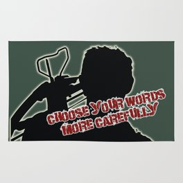 Daryl Dixon-Choose Your Words More Carefully Rug
